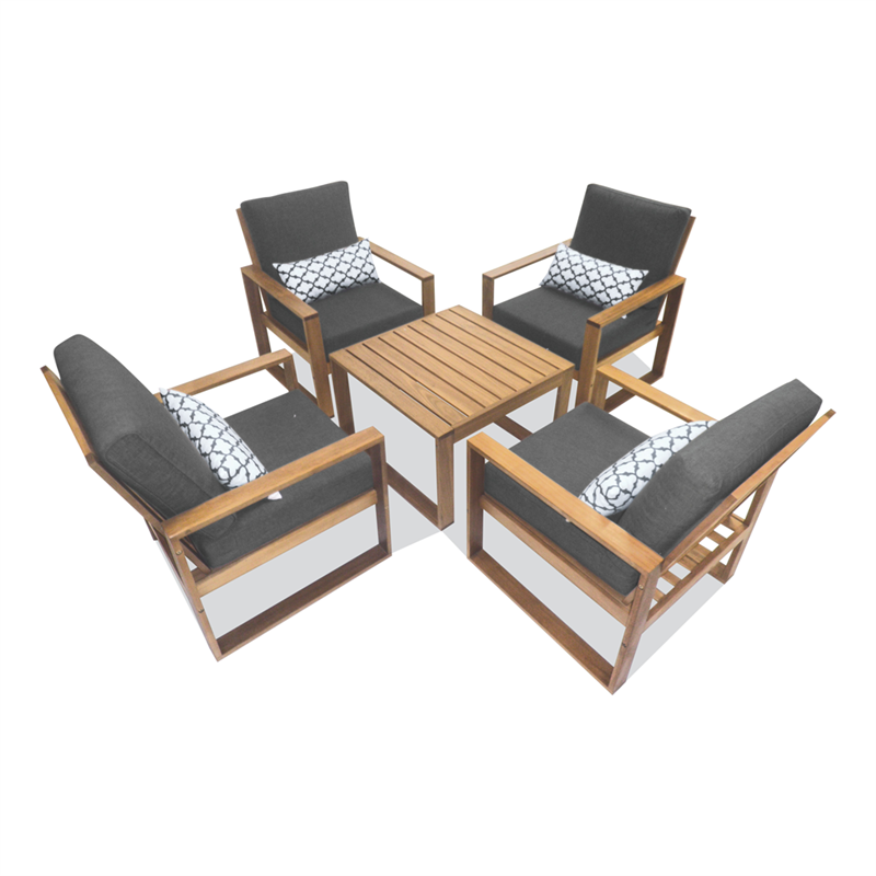 5 Piece Timber Avani Lounge Setting