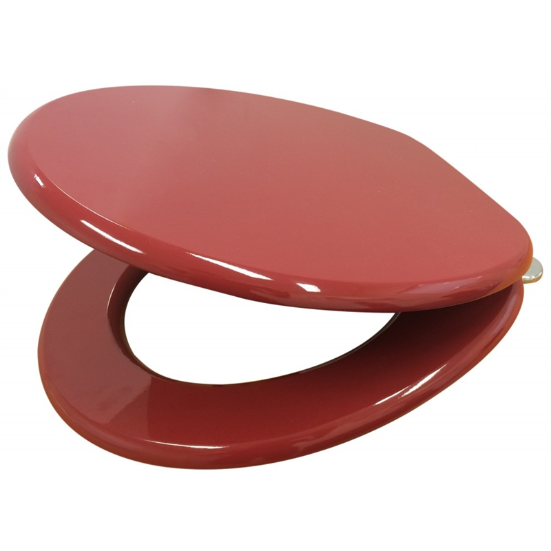 Mondella 430 x 370mm Red PVC Veneer Toilet Seat
