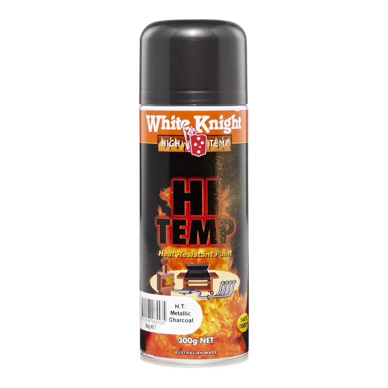 White Knight High Temp 300g Metallic Charcoal Spray Paint