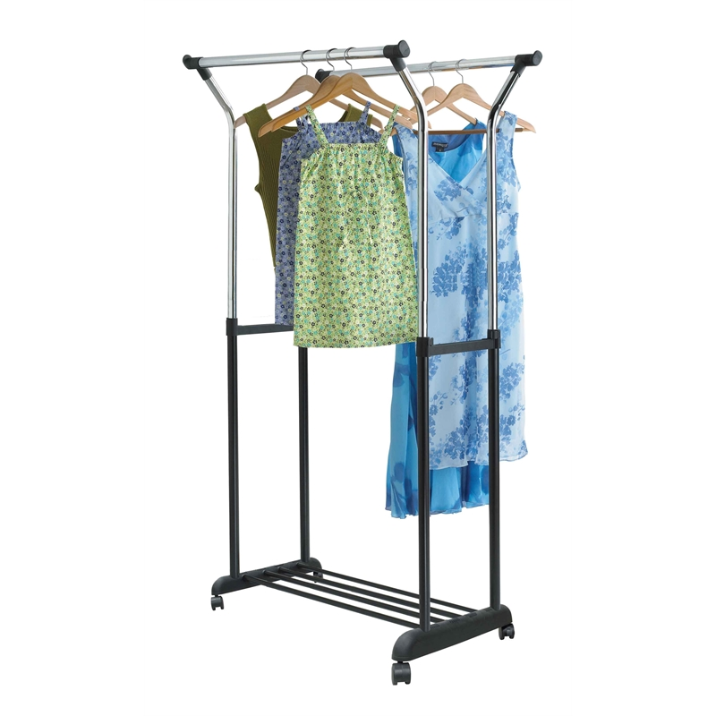 covered clothes rack rigga all set 90 525 111170cm double bar adjustable height garment rack