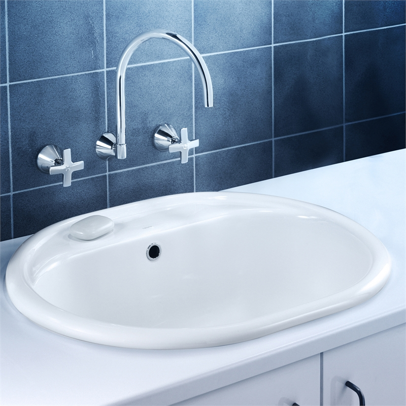 Laundry Trough Ceramic : Caroma 35L White Utility Basin Metro LH 1TH Bunnings Warehouse
