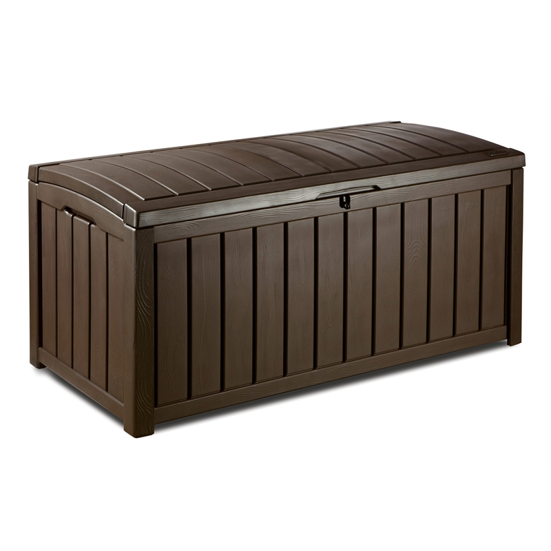 Keter 390l glenwood outdoor storage box bunnings warehouse - Baules y arcones de madera ...