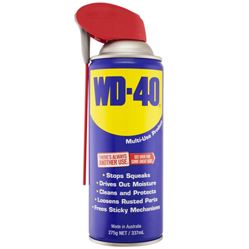 wd 40 275g lubricant with smart straw bunnings warehouse. Black Bedroom Furniture Sets. Home Design Ideas