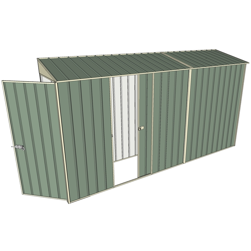 Garden Sheds 6x7: Build-a-Shed 0.8 X 3.7 X 2.0m Tunnel Shed Tunnel Hinged