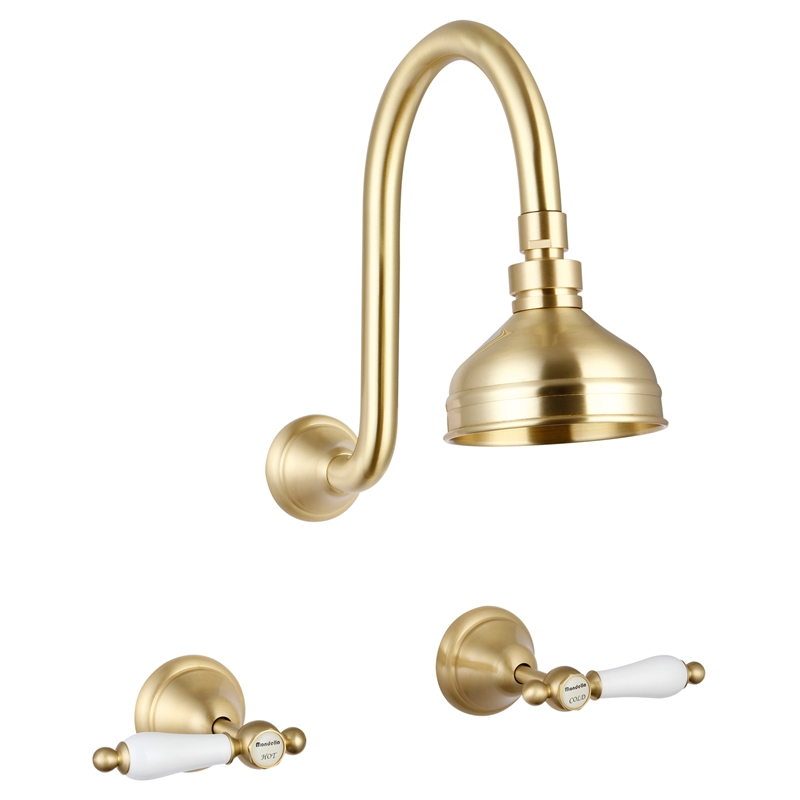 Maestro WELS 3 Star 9L/min Brass Lever Handle Shower Set