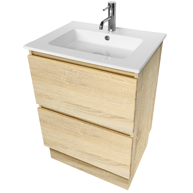 Cibo Design 600mm Coast Veneer Fresh Vanity | Bunnings ...