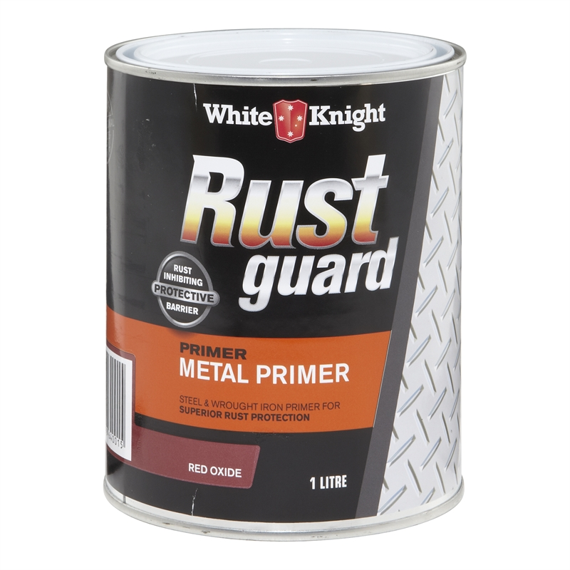 White Knight Rust Guard 1l Red Oxide Metal Primer