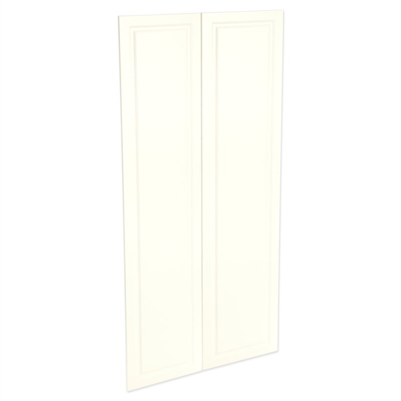 Kaboodle 900mm Antique White Heritage Pantry Doors 2 Pack