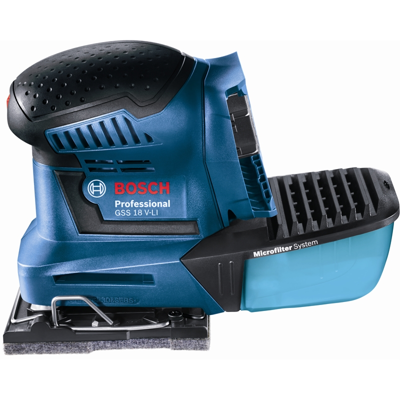 bosch blue 18v cordless orbital sander bunnings warehouse. Black Bedroom Furniture Sets. Home Design Ideas