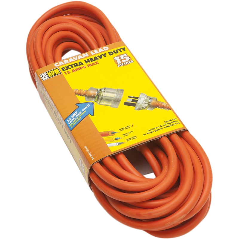 Hpm 10m 15a Extra Heavy Duty Caravan Extension Cable