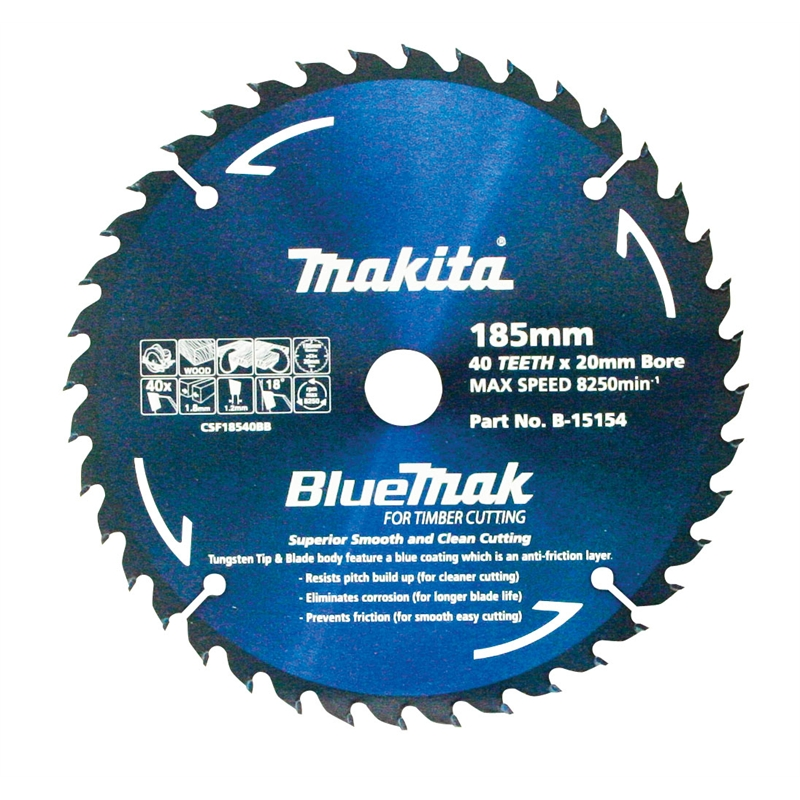 Makita 185mm bluemak circular saw blade bunnings warehouse greentooth Images