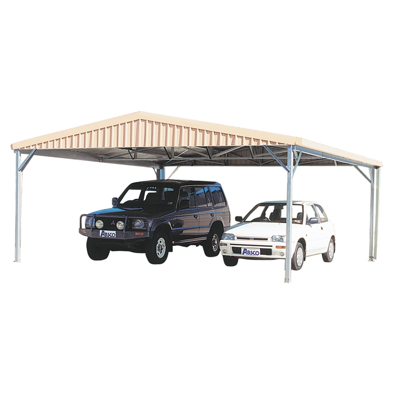 6 X 6 Flat Roof Carport: Absco Sheds 6.0 X 2.25 X 6.0m Classic Cream Gable Roof
