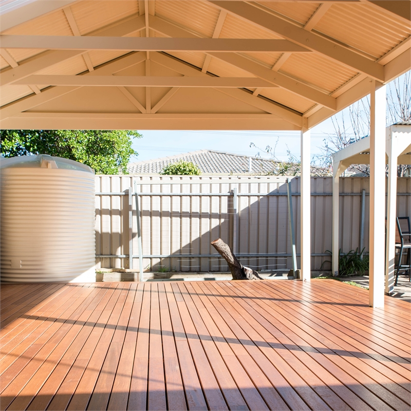Softwoods 3 6 X 4 9m Colorbond Gable Roof Pergola Kit