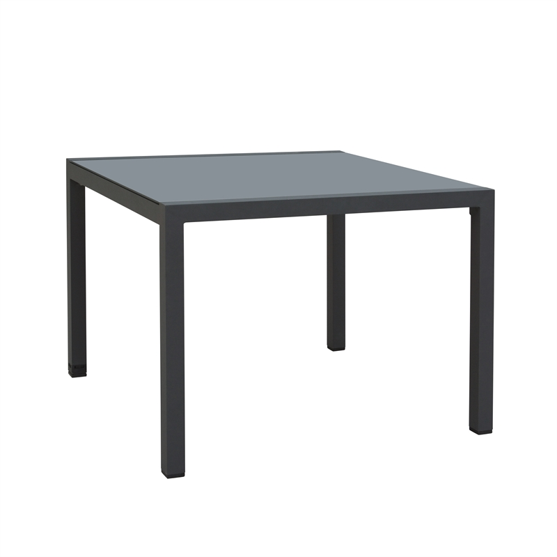 100 x 100cm Lava Aluminium Dining Table