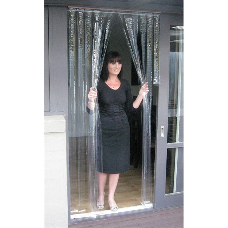 Zone Hardware 900 X 2000mm 0 5mm Clear Pvc Door Curtain Bunnings Warehouse