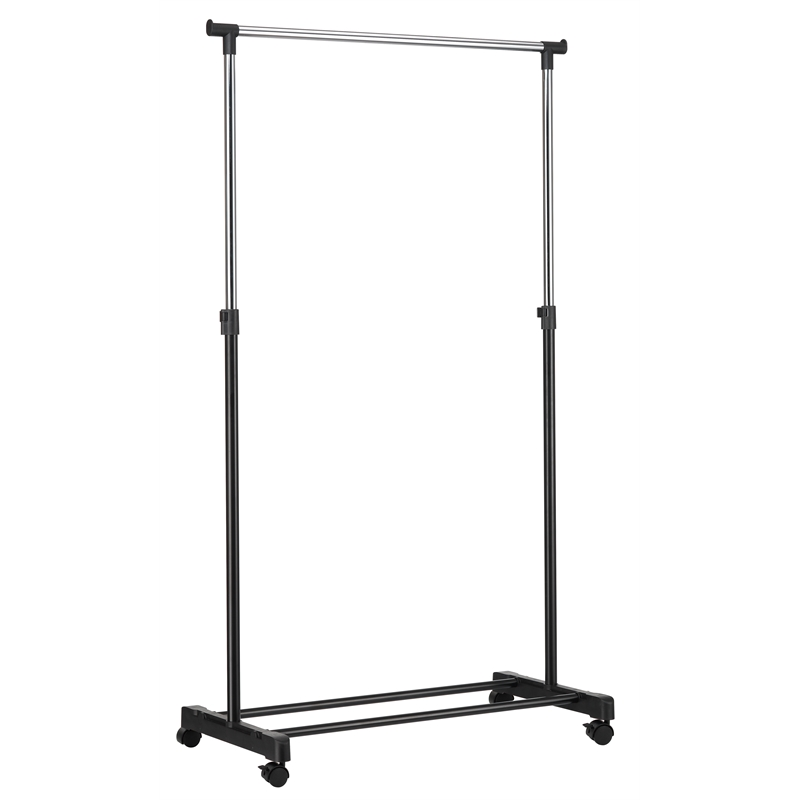 All Set 84 X 415 101 167cm Single Bar Adjustable Height Garment Rack