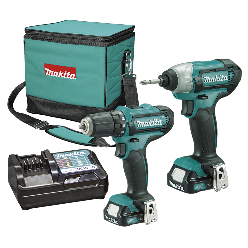 makita 12v li ion drill driver and impact driver combo kit. Black Bedroom Furniture Sets. Home Design Ideas