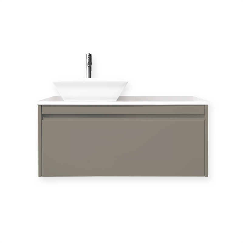 bathroom sinks bunnings vanity wall hung quay 1200 whstone iron ore cubo 11464