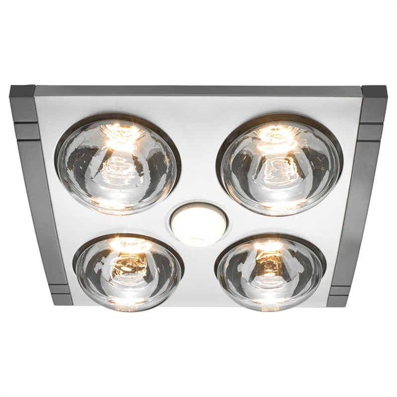 High Quality Heller 4 X 275W LED Silver Mason 3in1 Bathroom Heater