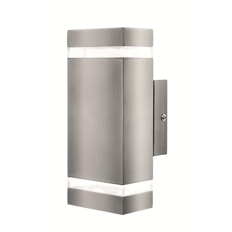 Brilliant Broome Stainless Steel Up Down Exterior Wall Light