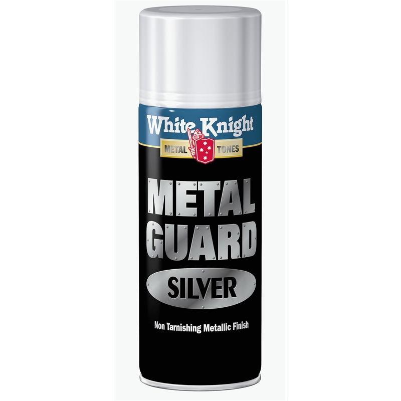 white knight 300g silver metal guard spray paint bunnings warehouse. Black Bedroom Furniture Sets. Home Design Ideas