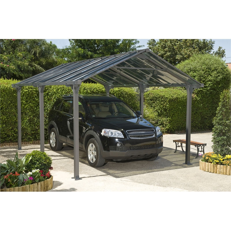 Suntuf 5 X Grey Vanguard Carport Kit Bunnings Warehouse