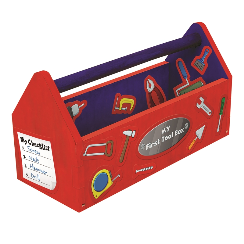 Wood worx kids tool box craft kit bunnings warehouse for Craft box for toddlers