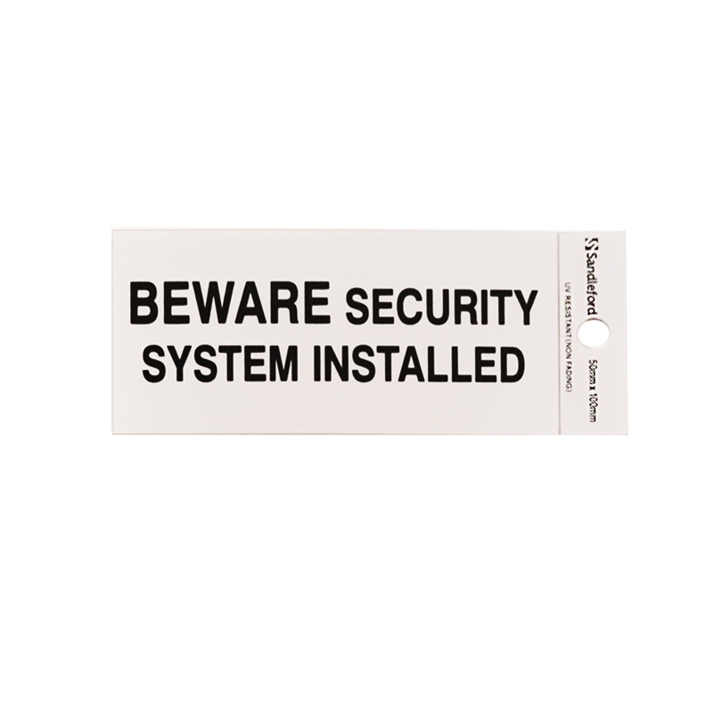 Bunnings sandleford sandleford 100 x 50mm beware security for Self security system