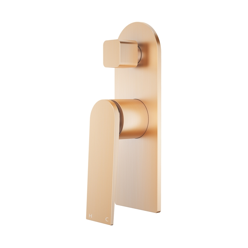 Signature Brushed Rose Gold Diverter Shower Mixer