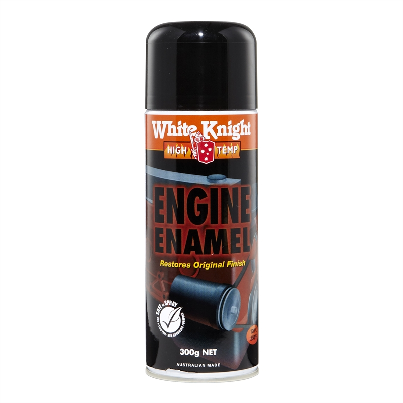 White knight high temp 300g engine enamel spray paint flat black Black spray paint