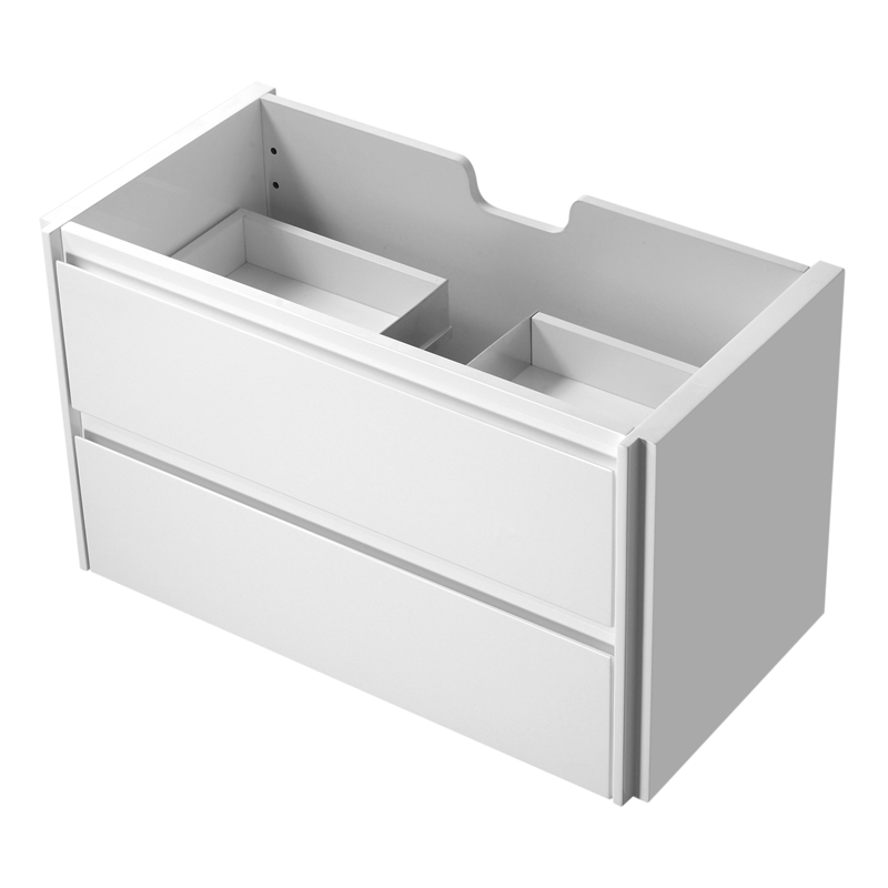 Rococo 900mm White Wall Hung Vanity - Cabinet Only