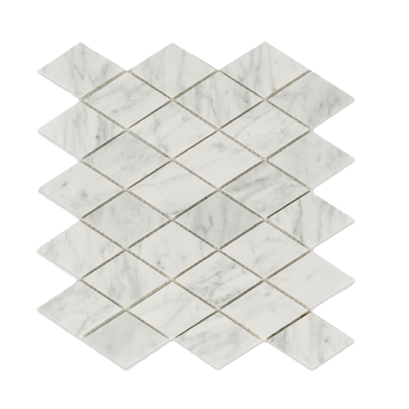 Decor8 300 x 300 x 8mm diamond carrara marble mosaic tiles for Decor8 tiles