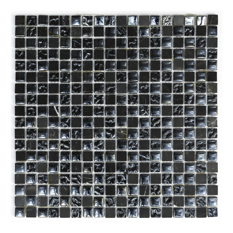 Decor8 298 x 298 x 8mm black marble mosaic tile per sheet for Decor8 tiles