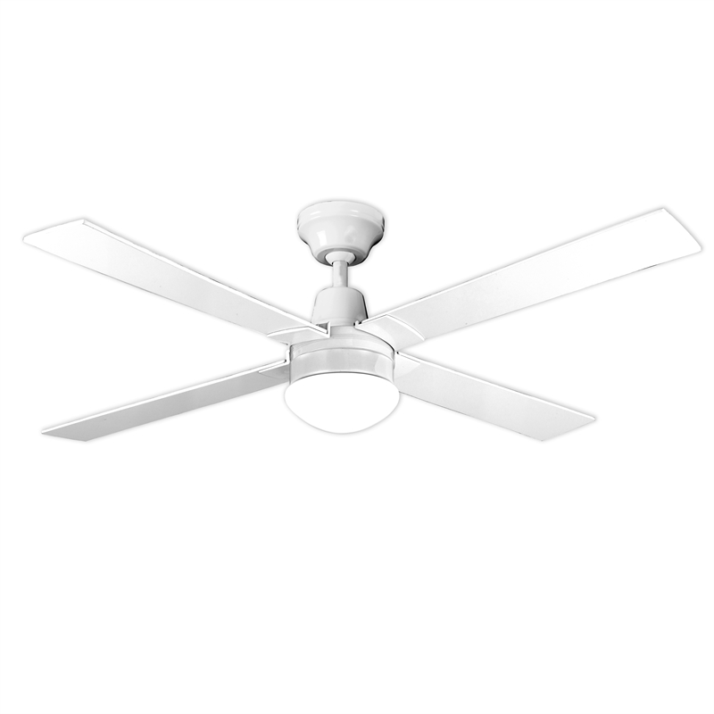 Ceiling Lights At Bunnings : Arlec cm white blade ceiling fan with oyster light