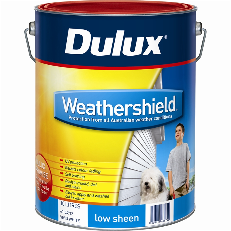 Dulux weathershield 10l low sheen slate exterior paint bunnings warehouse - Dulux exterior gloss paint style ...