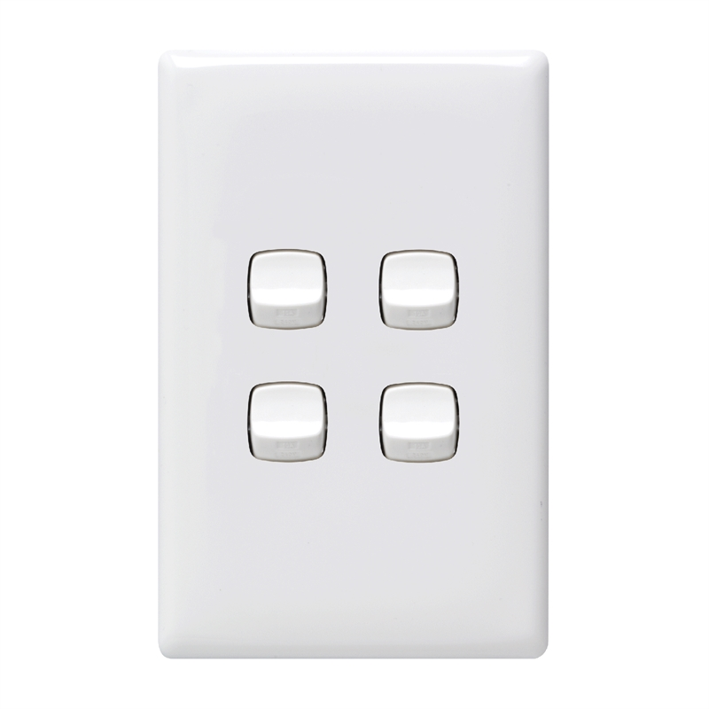 HPM LINEA 4 Gang Wall Switch | Bunnings Warehouse