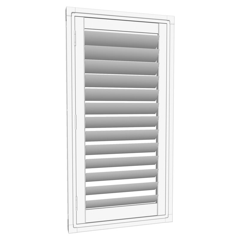 Easyas 610 X 1200mm White Adjustable Plantation Shutter