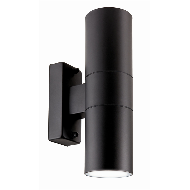Brilliant 35w black coolum up down exterior wall light for Exterior up down wall light