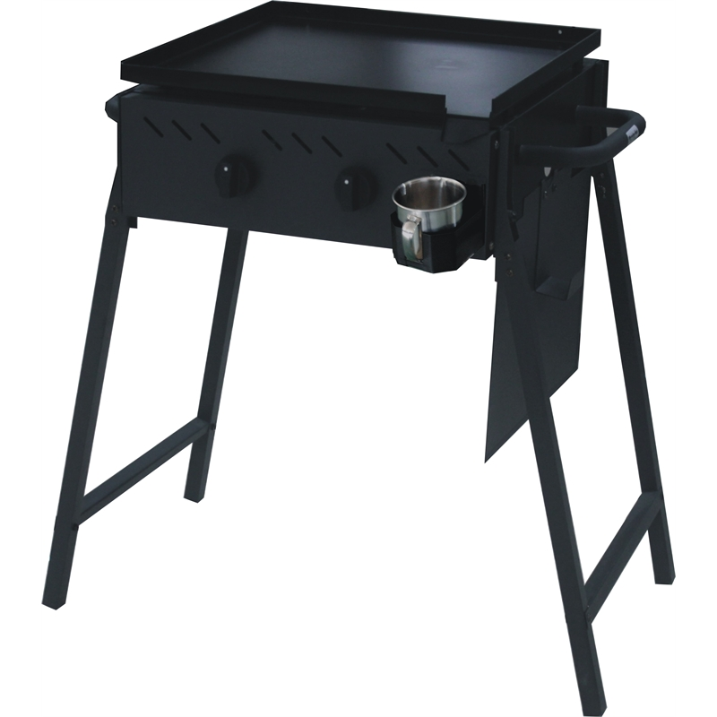 Black 2 Burner Flat Top BBQ