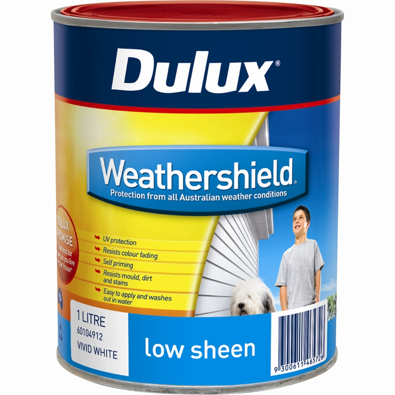 dulux weathershield 1l low sheen mission brown exterior paint. Black Bedroom Furniture Sets. Home Design Ideas