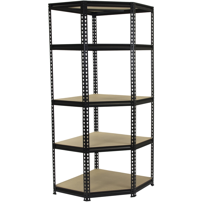 Pinnacle 1830 X 730 730mm 5 Tier Corner Adjustable Shelving Unit