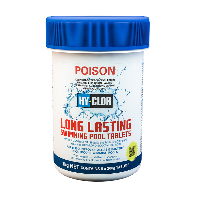 Bunnings Hy Clor Hy Clor 1kg Long Lasting Pool Chlorine Tablets Compare Club