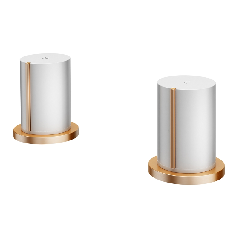 Signature White And Rose Gold Basin Top Assembly