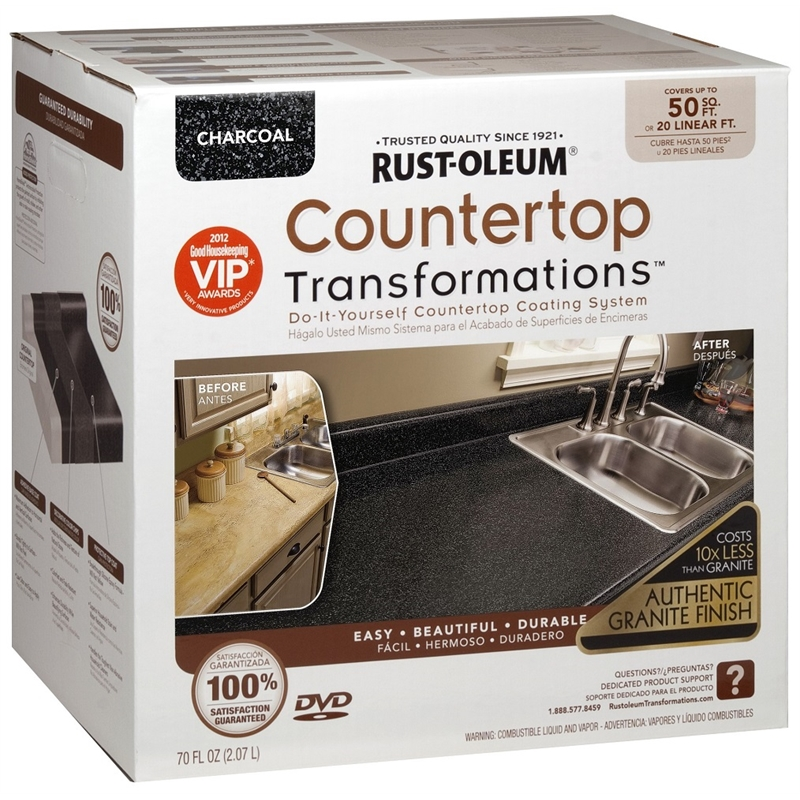 Rust-Oleum Charcoal Countertop Transformation Kit