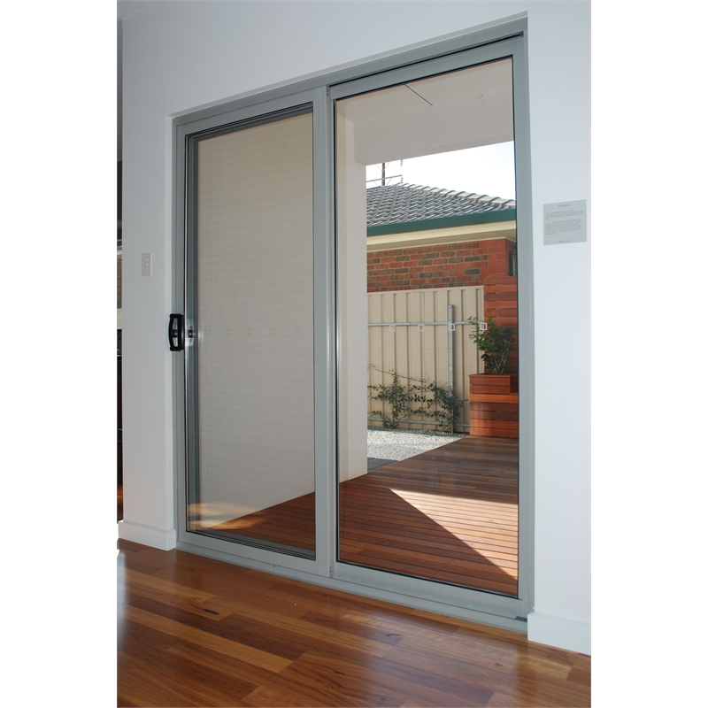 Polar eco view 1400 x 2145mm double glazed black aluminium for Double sliding doors