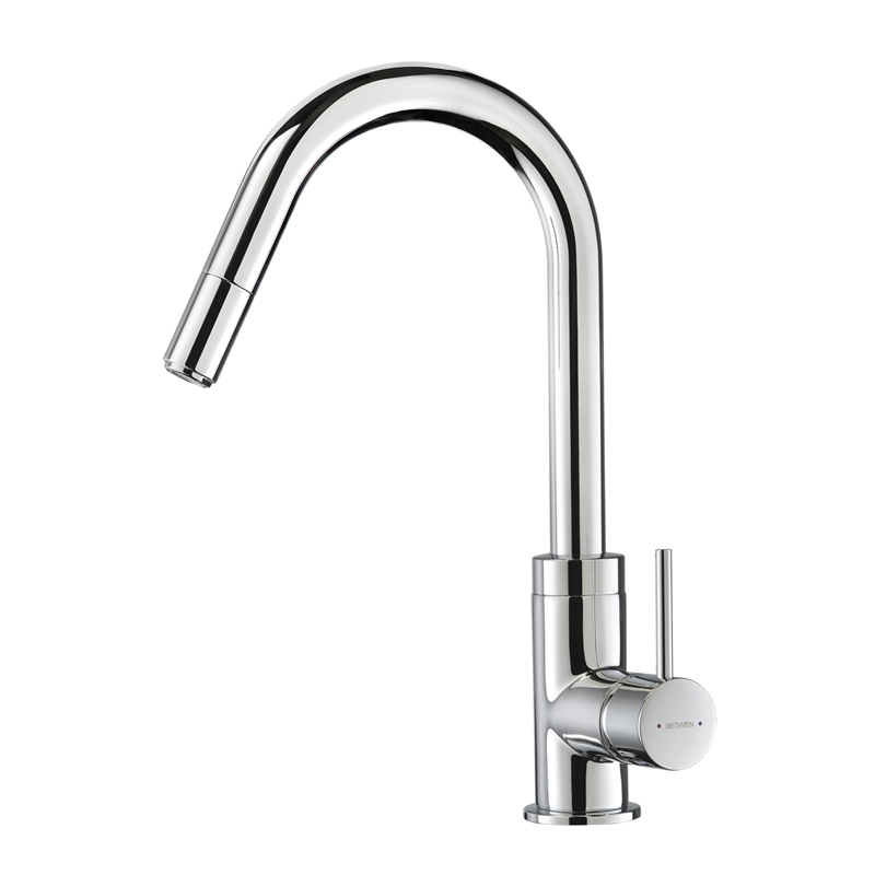 Methven Wels 4 Star Culinary Gooseneck Sink Mixer With Pull Out Spray