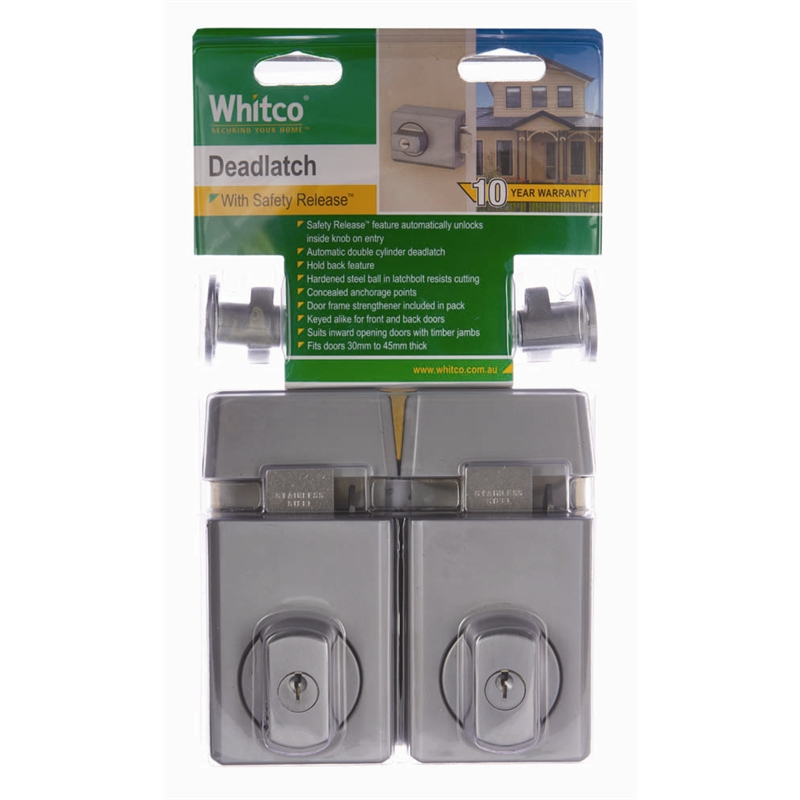 whitco double cylinder deadlatch instructions