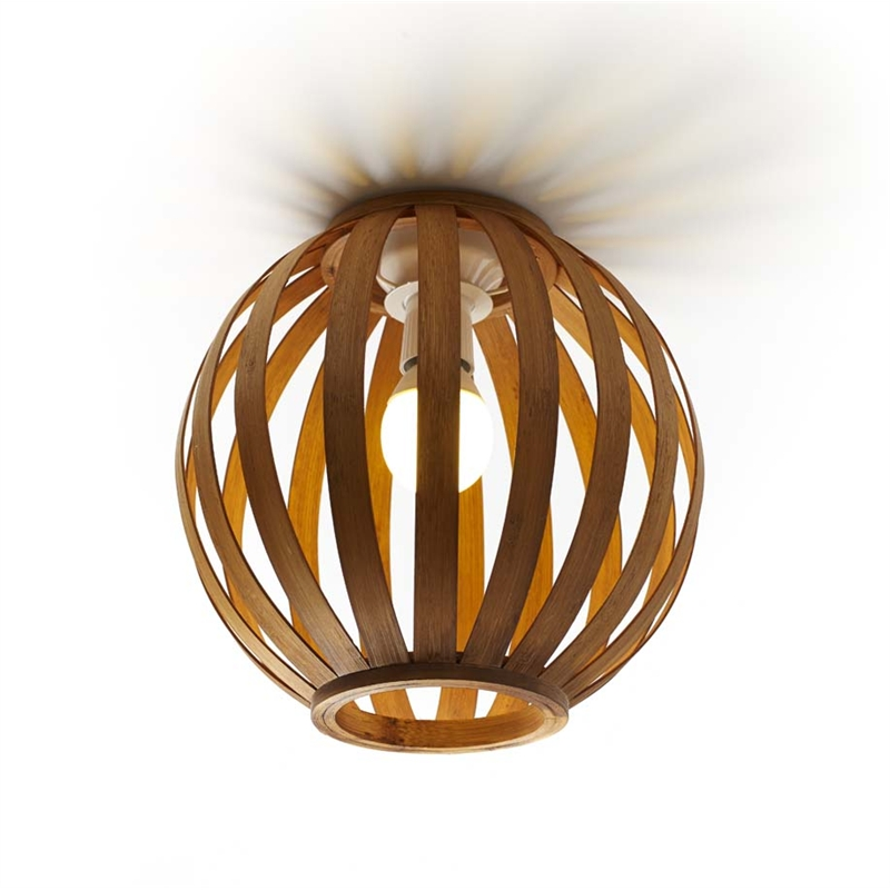 Rouge living 250mm natural beijing bamboo batten fix light shade aloadofball Images