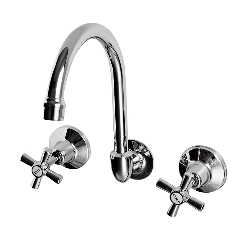 Ezyfix Wels 3 Star 8l Min Chrome Wall Sink Laundry Set
