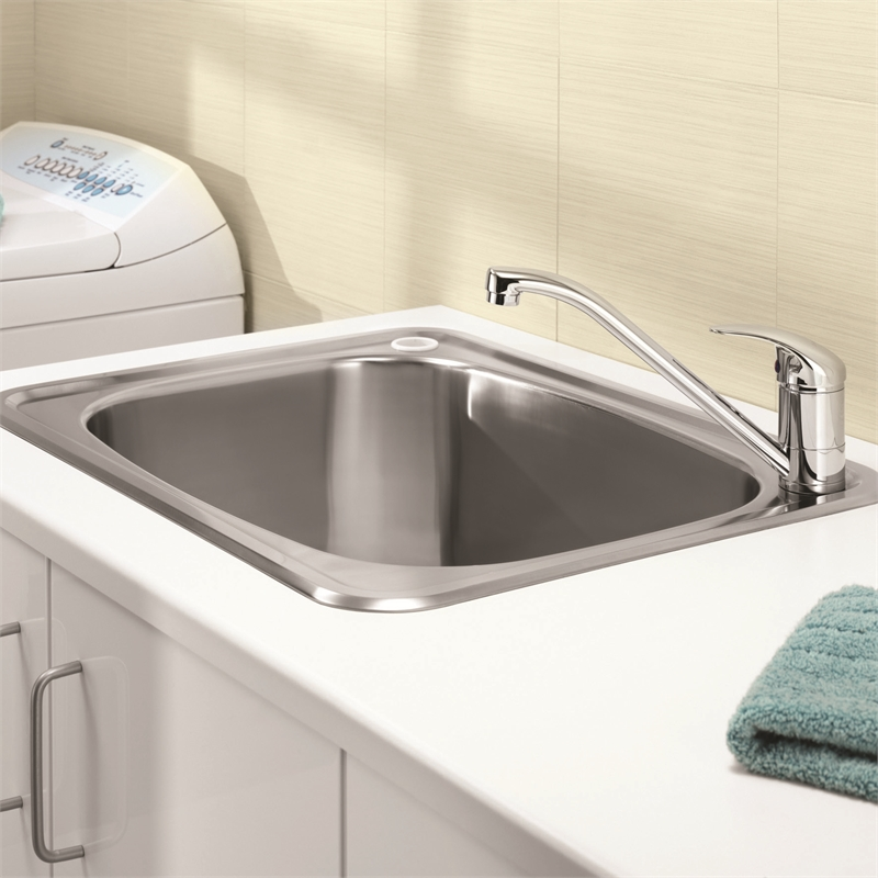 Clark 45L Flushline Laundry Standard Single Tub With Bypass